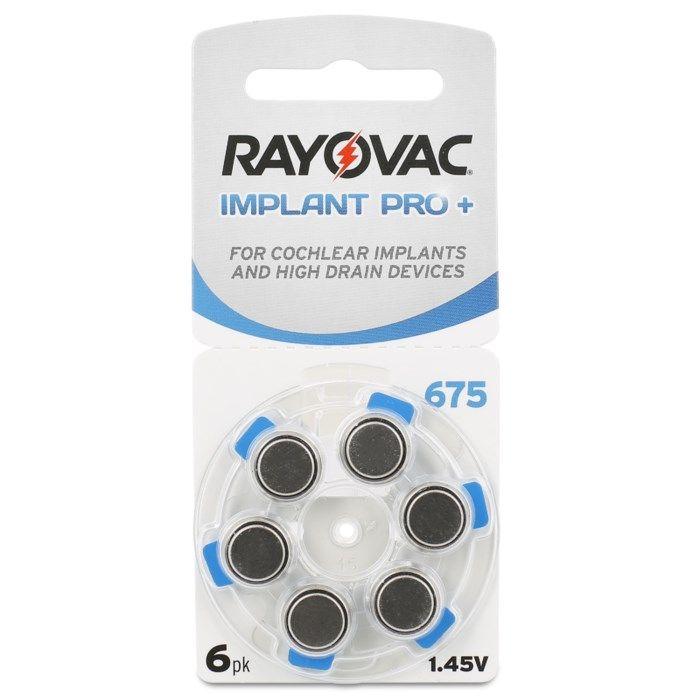 Rayovac Hörapparatsbatterier Blå 675P 6-pack