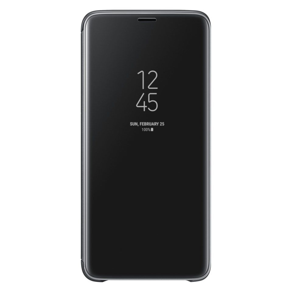 Samsung Clear View Mobiletui for Galaxy S9 Plus Svart