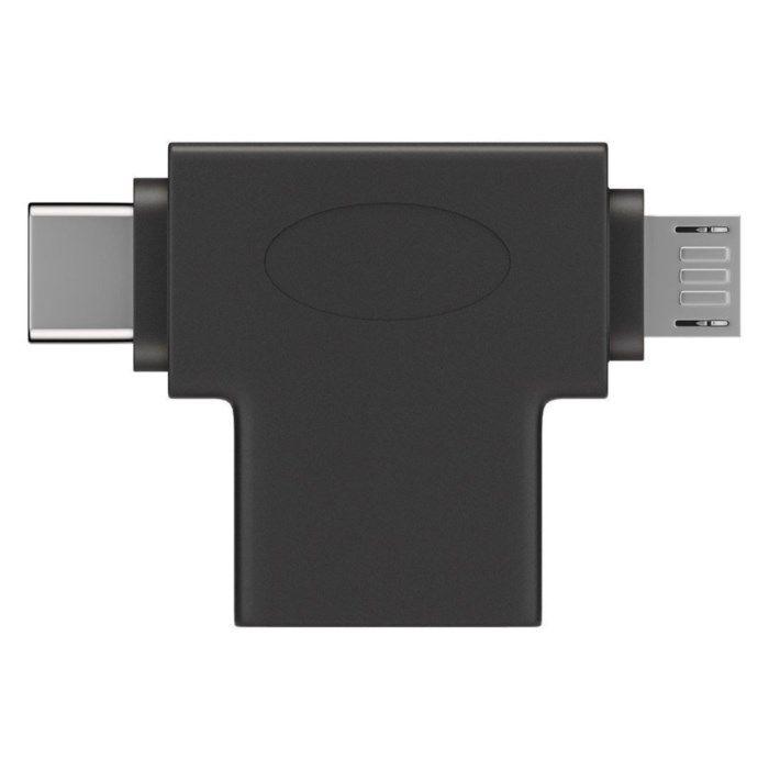 Adapter USB-C och Micro-USB till USB-A
