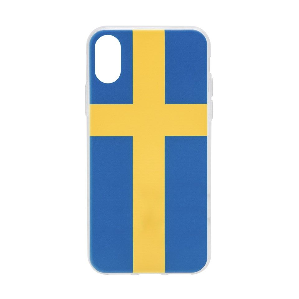 Linocell Second skin Mobilskal Sweden edition För iPhone X och Xs
