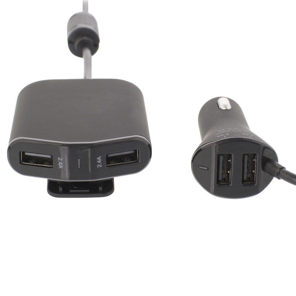 USB billaddare med 4 portar 9,6 A