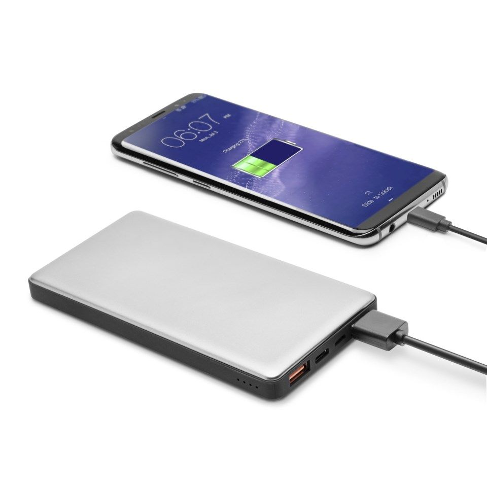 Linocell Premium Powerbank med Quick Charge 3.0 og USB-C 10 000 mAh