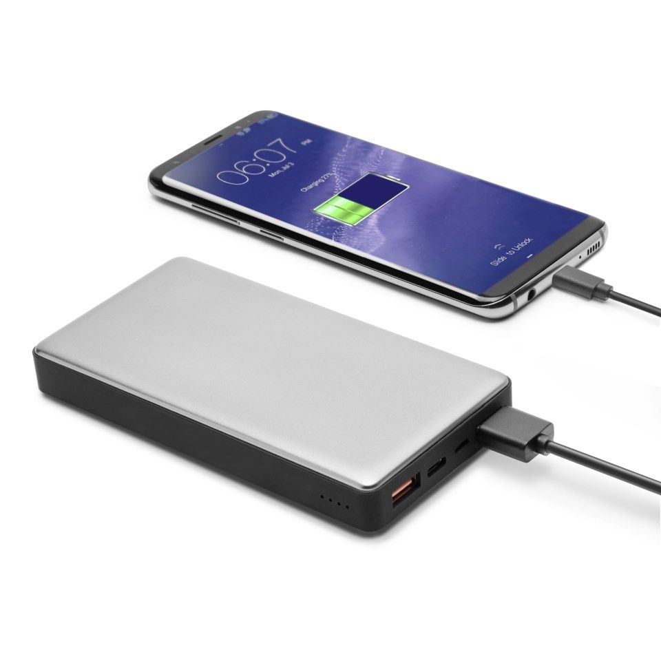 Linocell Premium Powerbank med Quick Charge 3.0 og USB-C 15 000 mAh
