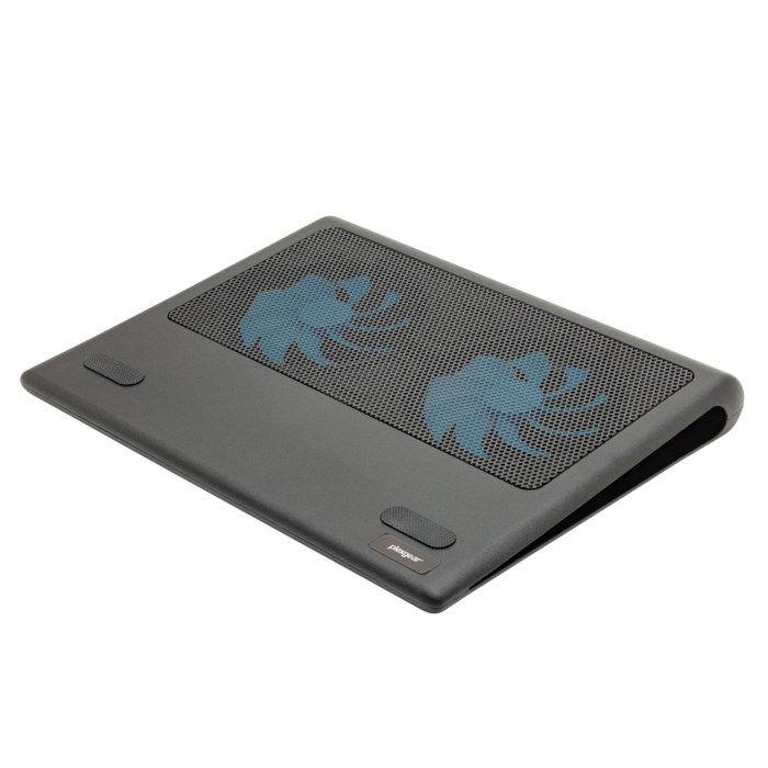 Plexgear Twin Cool Kylplatta för dator upp till 17