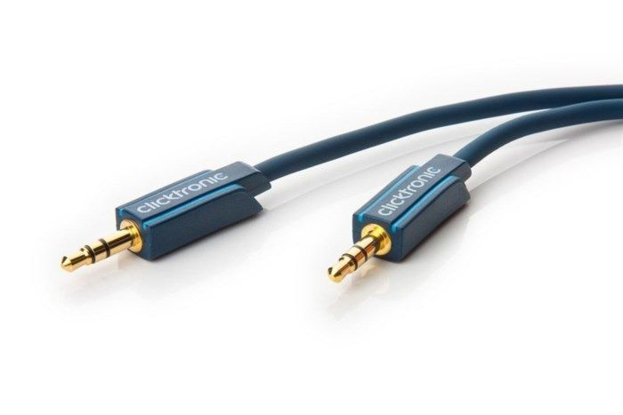 Clicktronic Ljudkabel med 3,5 mm-kontakt 10 m