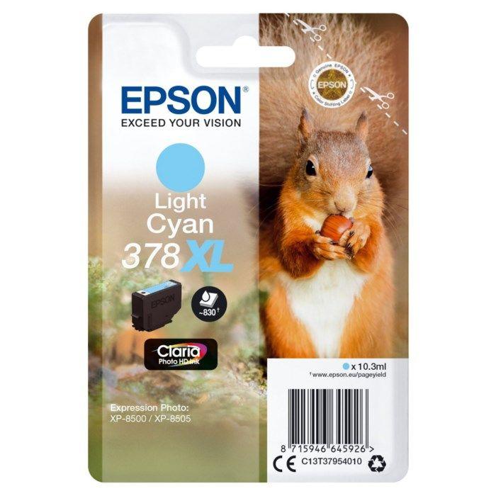 Epson T378 XL Bläckpatron Ljus cyan