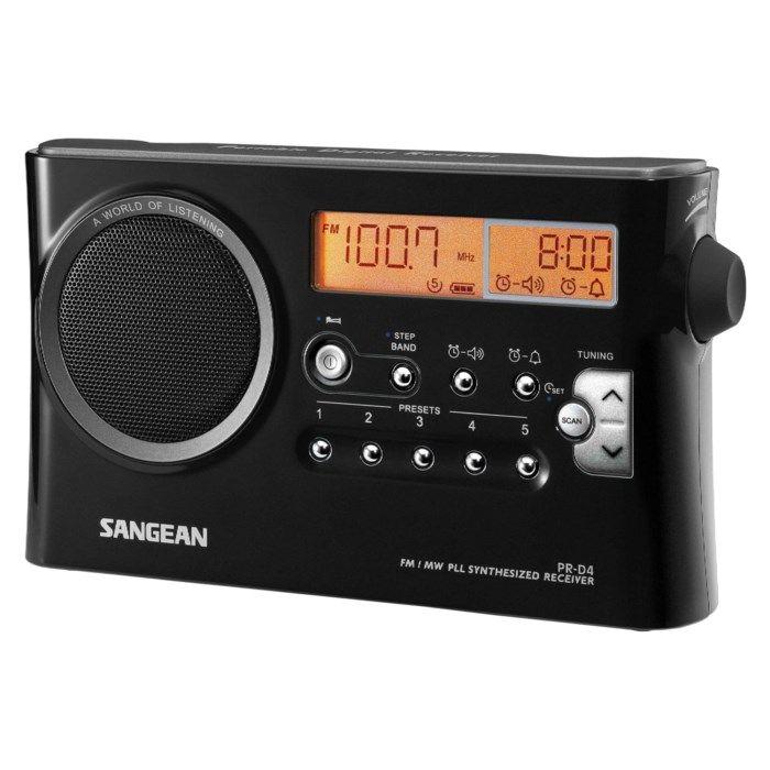 Sangean PR-D4 FM-radio med digital tuner Svart