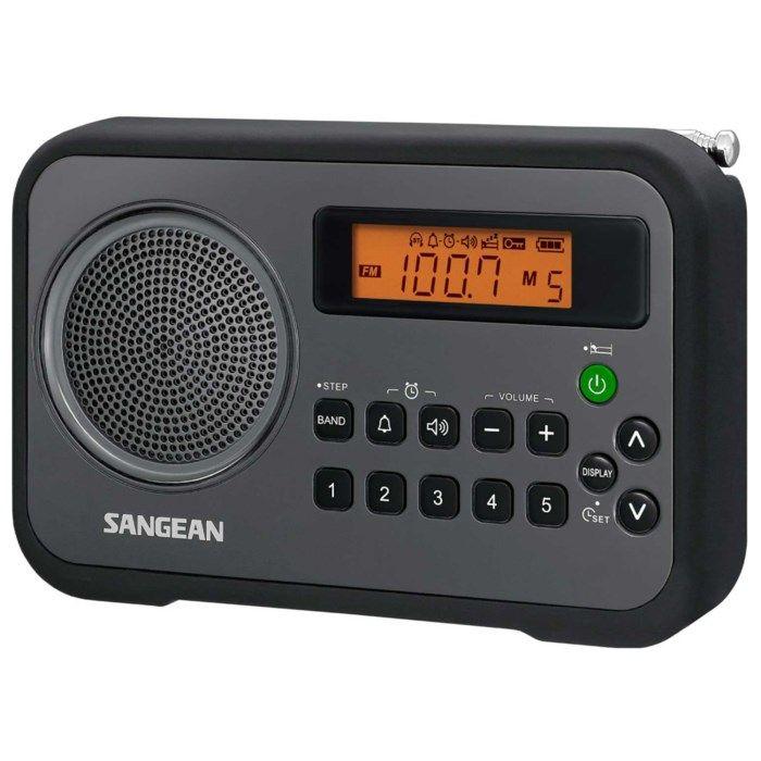 Sangean PR-D18 FM-radio med digital tuner Svart