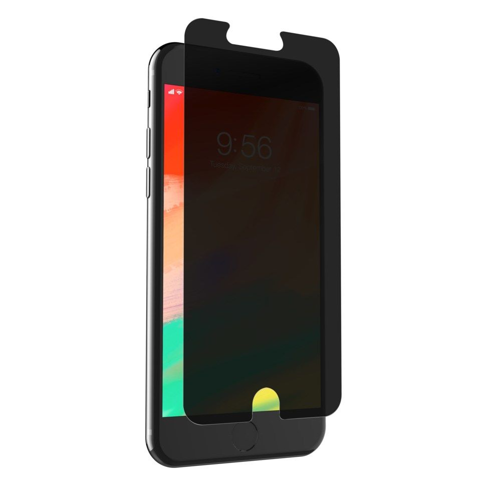 Invisible Shield Glass+ Privacy Skjermbeskytter for iPhone 6, 7 og 8 Plus