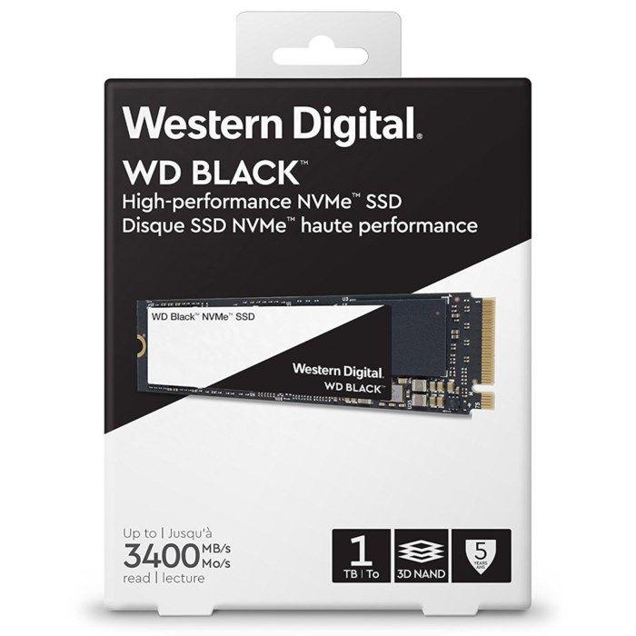 WD Black M.2 NVMe SSD-disk 1 TB