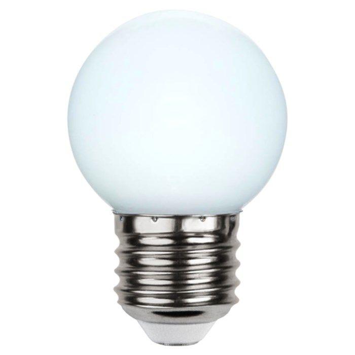 Färgglad LED-lampa E27 Opalvit