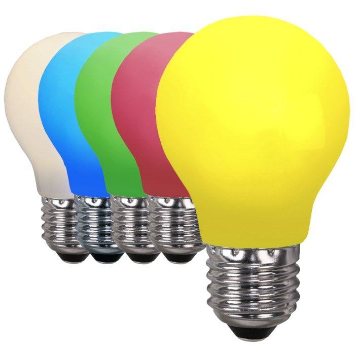 Färgglad LED-lampa E27 Varmvit