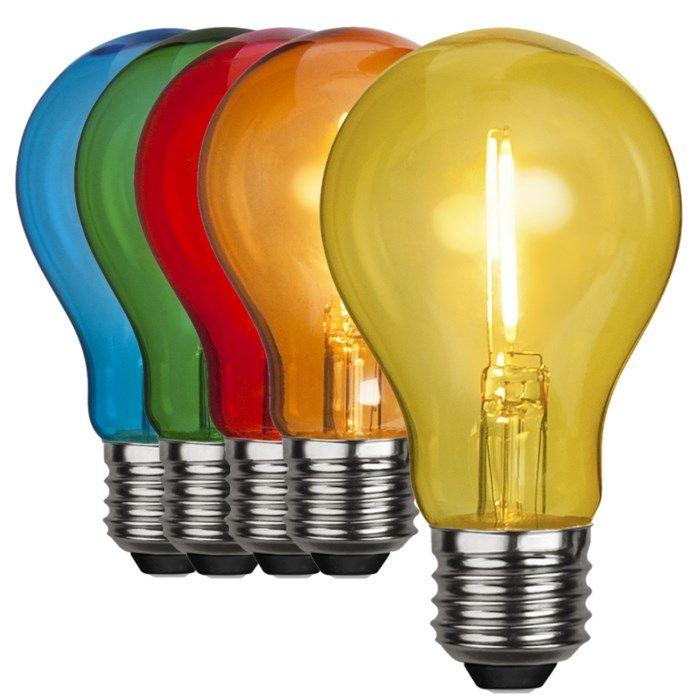 Färgglad LED-lampa E27 Gul