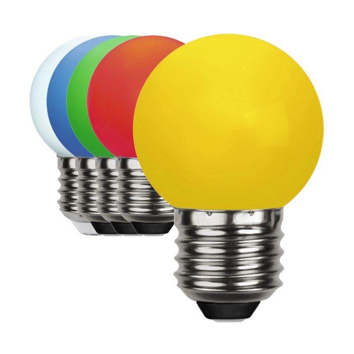 Färgglad LED-lampa E27 Röd
