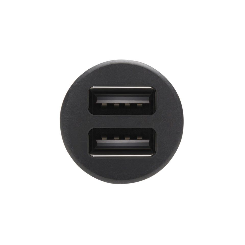 USB-billader med to USB-porter 4,8 A Svart