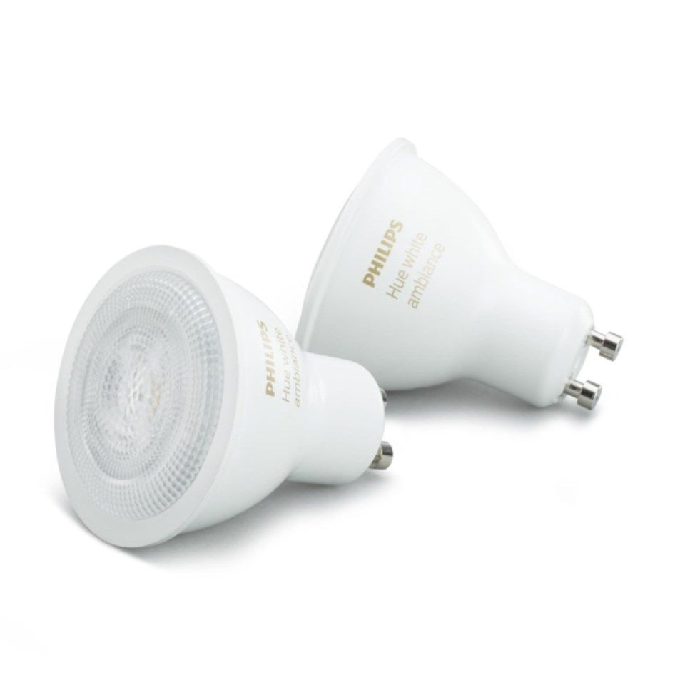 Philips Hue White Smart LED-lampa GU10 300 lm 2-pack