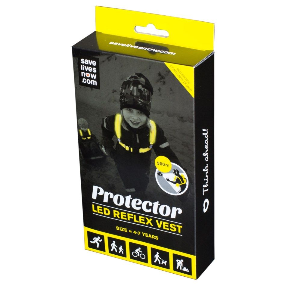 Protector LED-refleksvest Medium