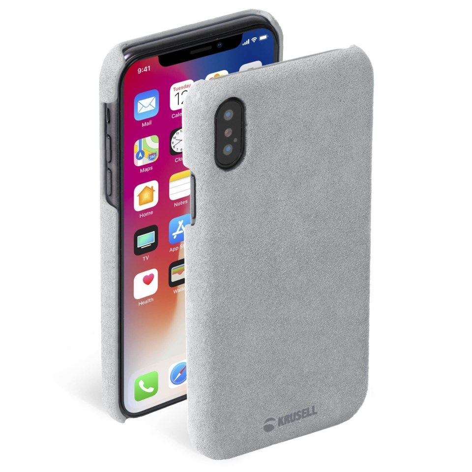 Krusell Broby Mobildeksel for iPhone X og Xs Grå