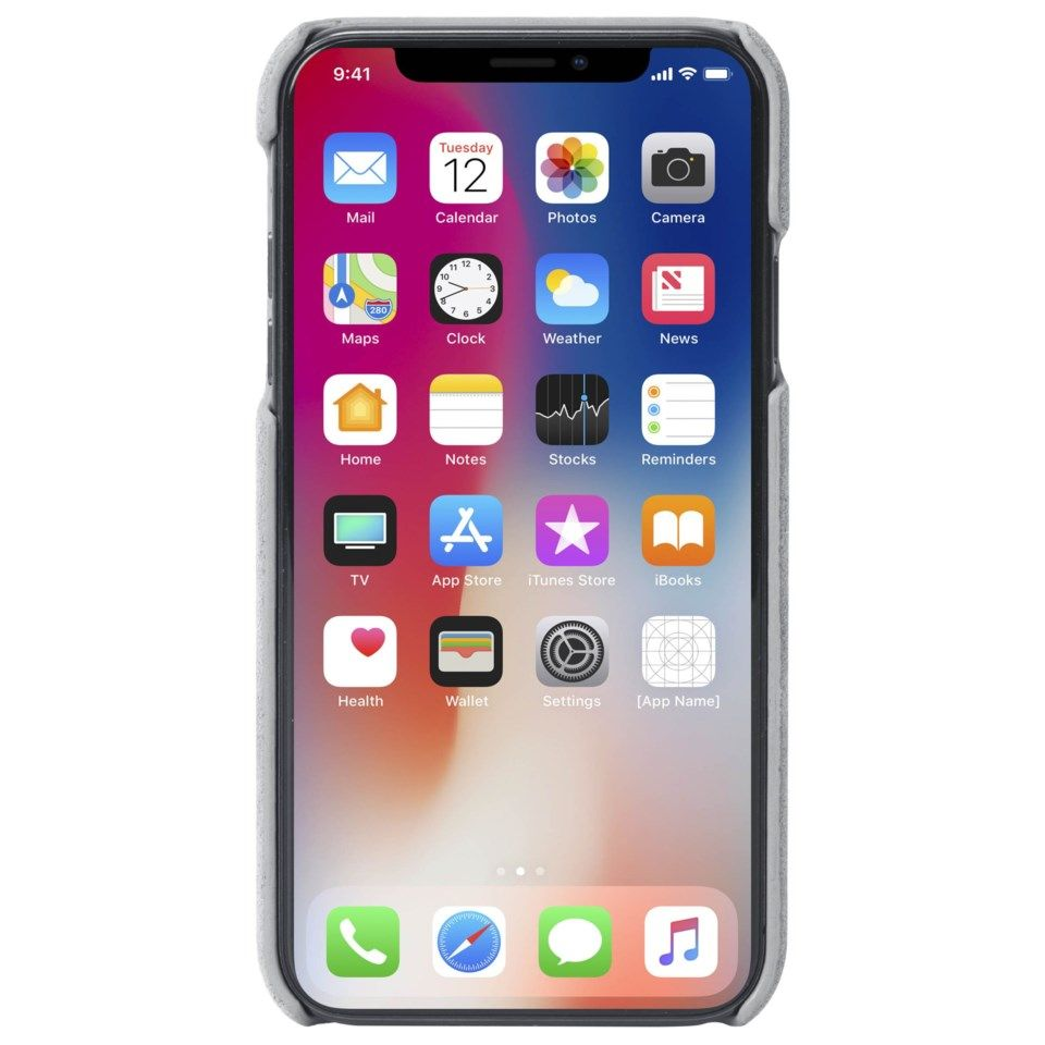 Krusell Broby Mobildeksel for iPhone Xs Max Grå