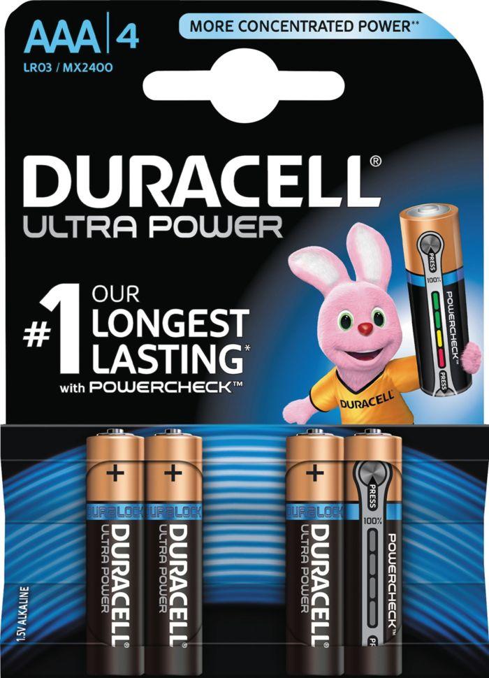 Duracell Ultra Power AAA-batterier (LR03) 4-pack