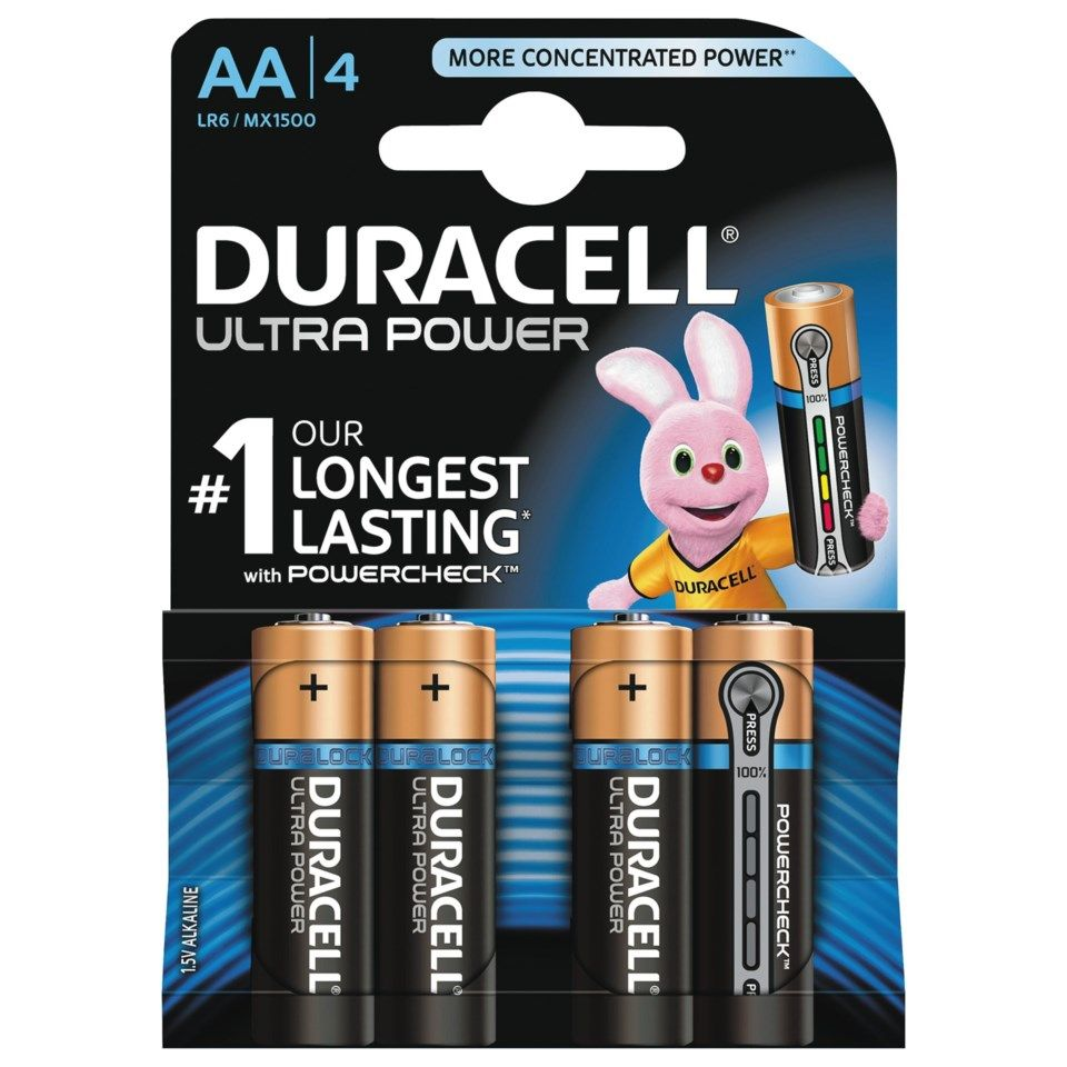 Duracell Ultra Power AA-batterier (LR6) 4-pack