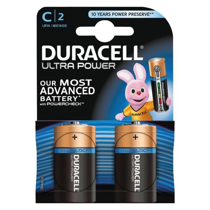 Duracell Ultra Power C-batterier (LR14) 2-pack