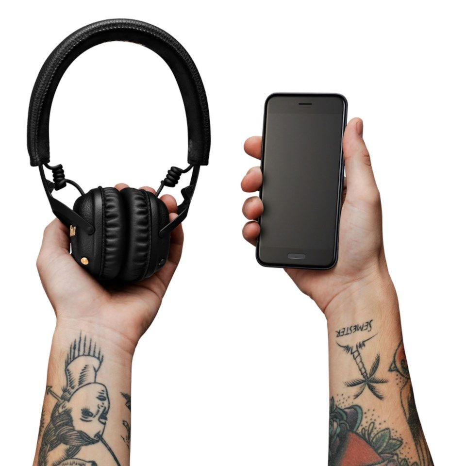 Marshall Mid ANC Bluetooth-headset med aktiv brusreducering