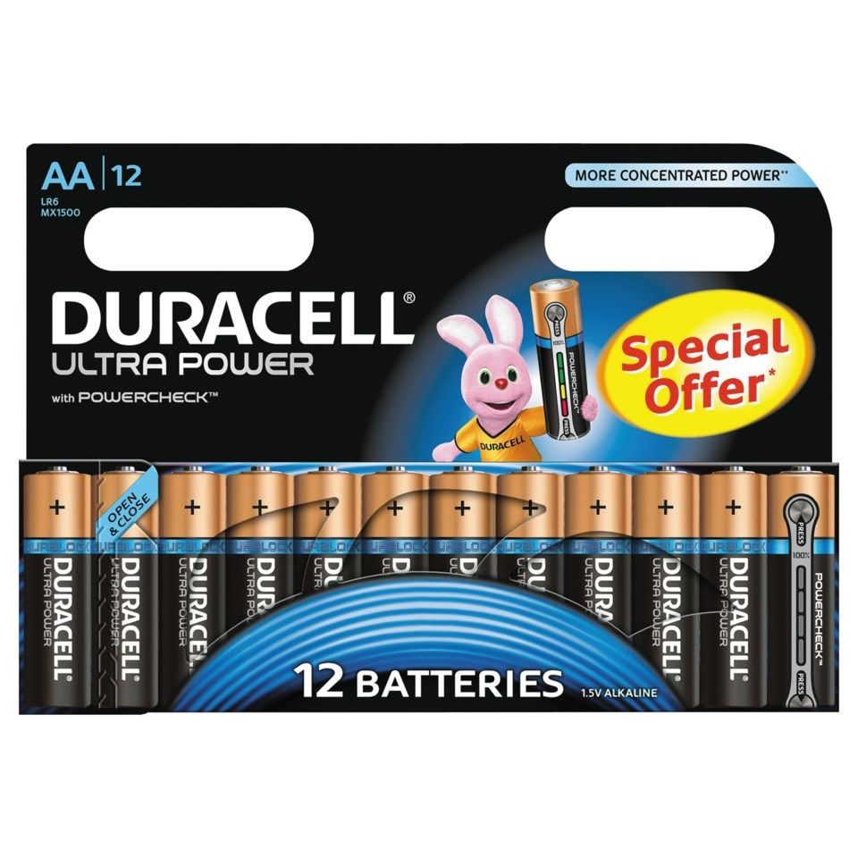 Duracell Ultra Power AA-batterier (LR6) 12-pack