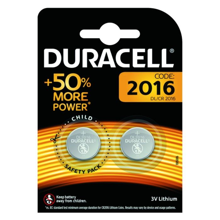 Duracell Litiumbatteri CR2016 2-pack