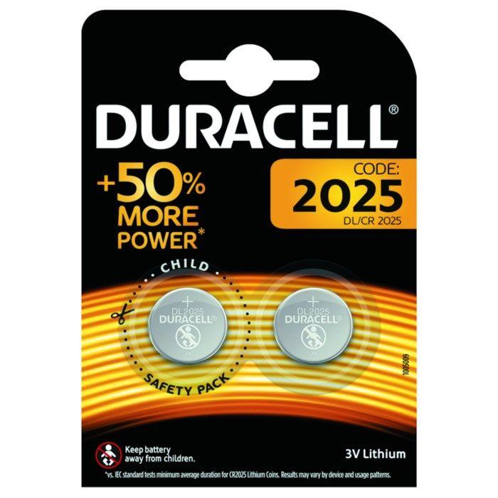Duracell Litiumbatteri CR2025 2-pack