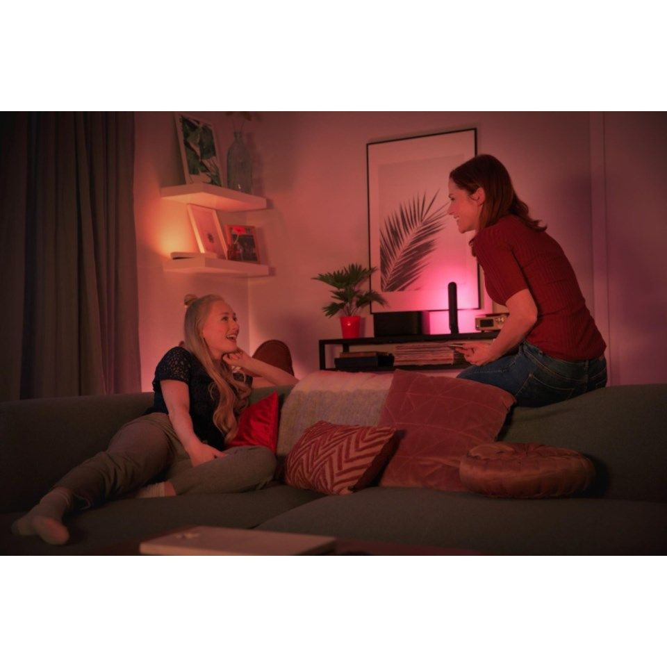 Philips Hue Play Bords- och vägglampa Svart 2-pack