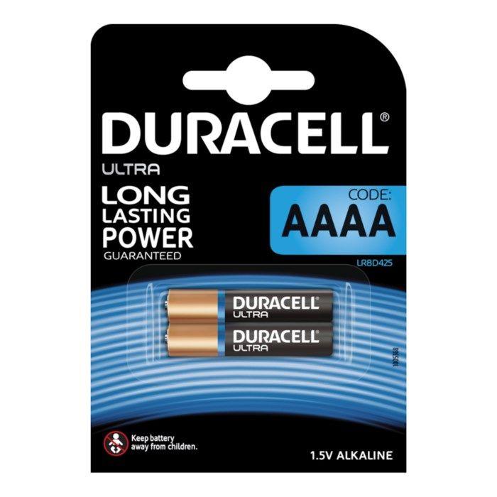 Duracell Ultra AAAA-batterier (LR61) 2-pack