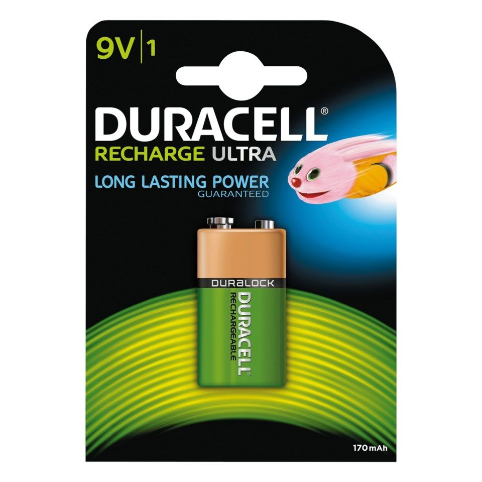 Duracell Recharge Ultra Power Laddningsbart 9 V-batteri 170 mAh