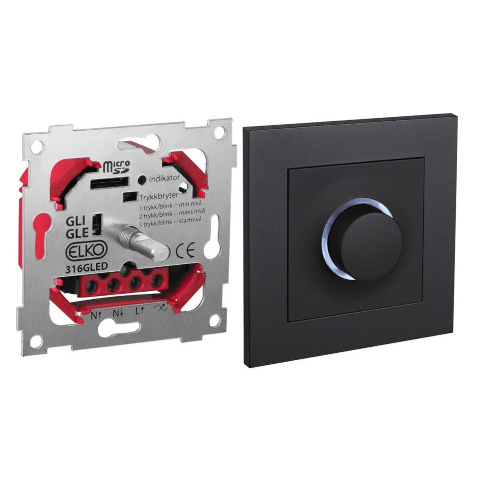 Elko Dimmer ESH RF GLED Plus Smart dimmer Svart