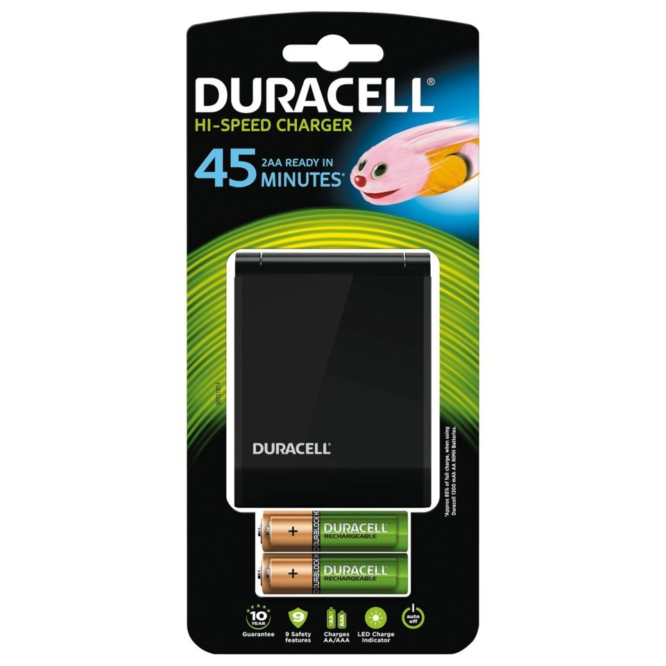 Duracell Advanced Charger 45 min Batterilader med overvåking