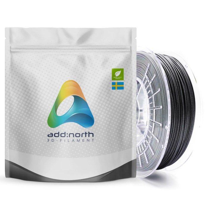 Addnorth PETG-filament för 3D-skrivare 1,75 mm Glitz Grey