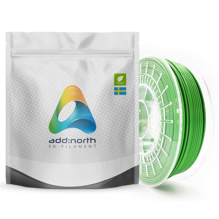 Addnorth PETG-filament för 3D-skrivare 1,75 mm Grön