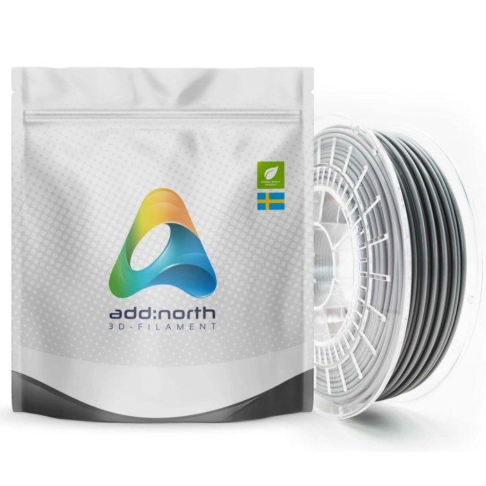 Addnorth PETG-filament för 3D-skrivare 1,75 mm Grå
