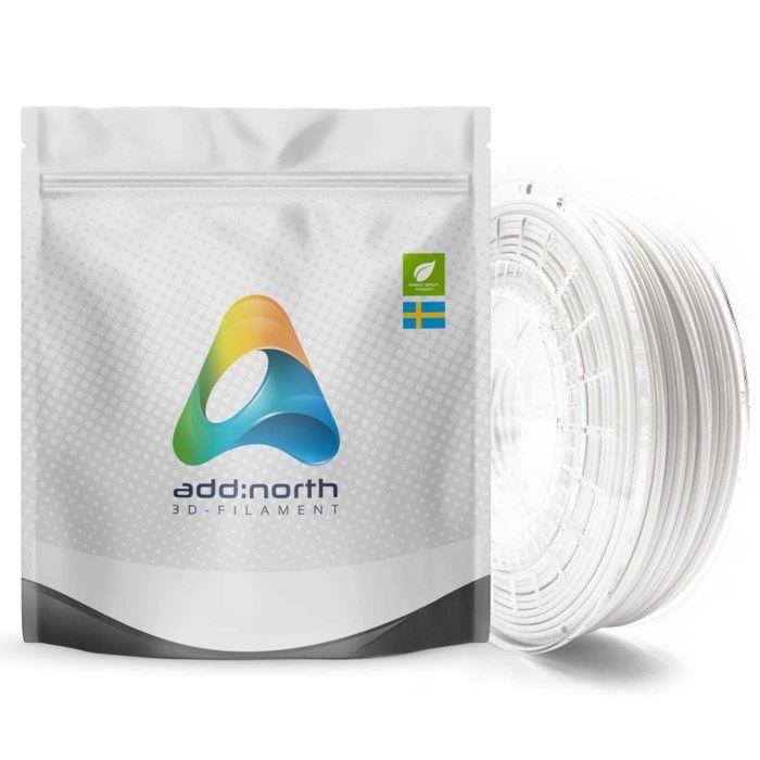 Addnorth PETG-filament för 3D-skrivare 1,75 mm Vit