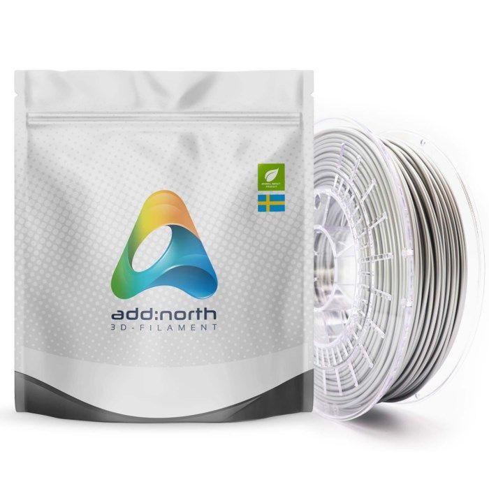 Addnorth E-PLA-filament för 3D-skrivare 1,75 mm Silver