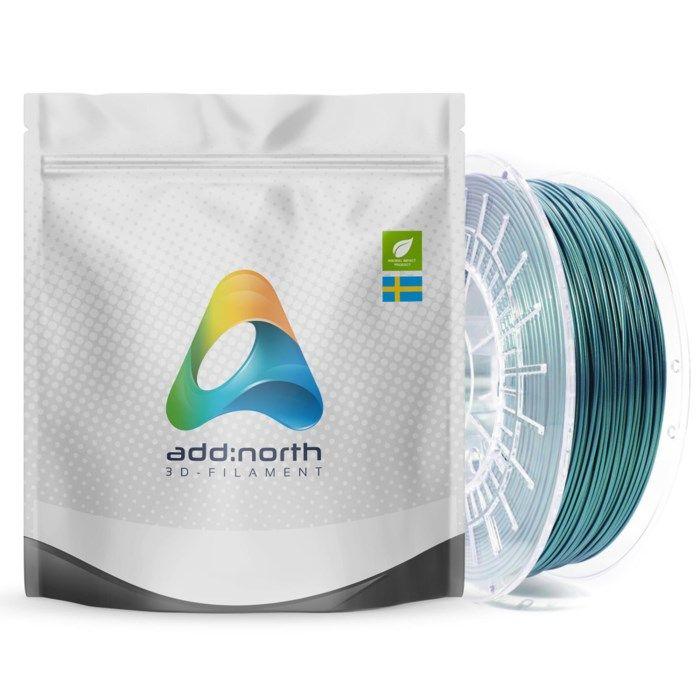 Addnorth E-PLA-filament för 3D-skrivare 1,75 mm Aurora Green