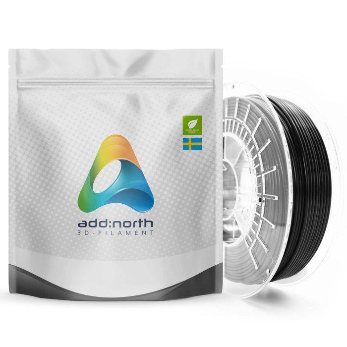 Addnorth E-PLA-filament för 3D-skrivare 1,75 mm Svart