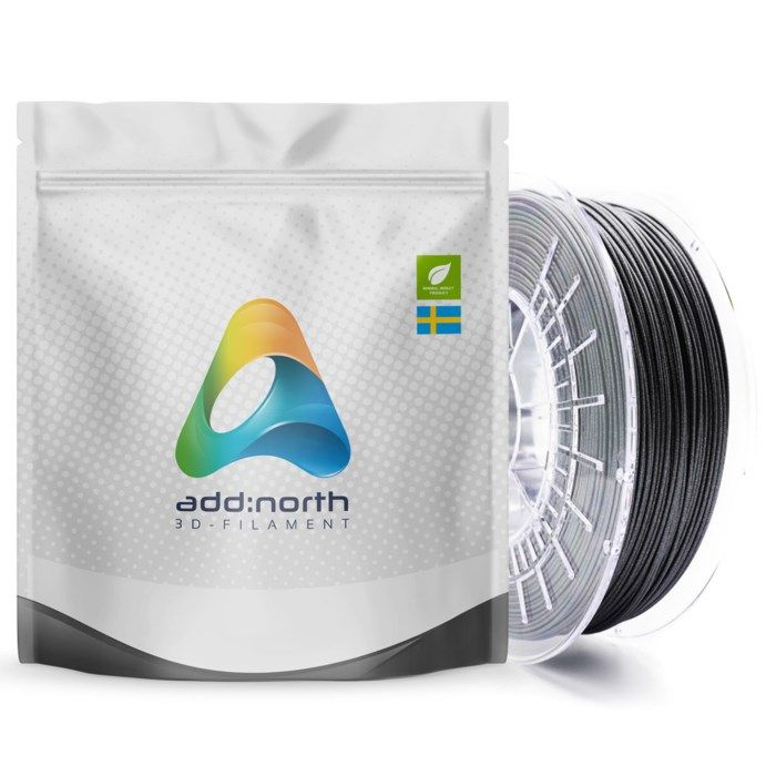 Addnorth E-PLA-filament för 3D-skrivare 1,75 mm Glitz Grey