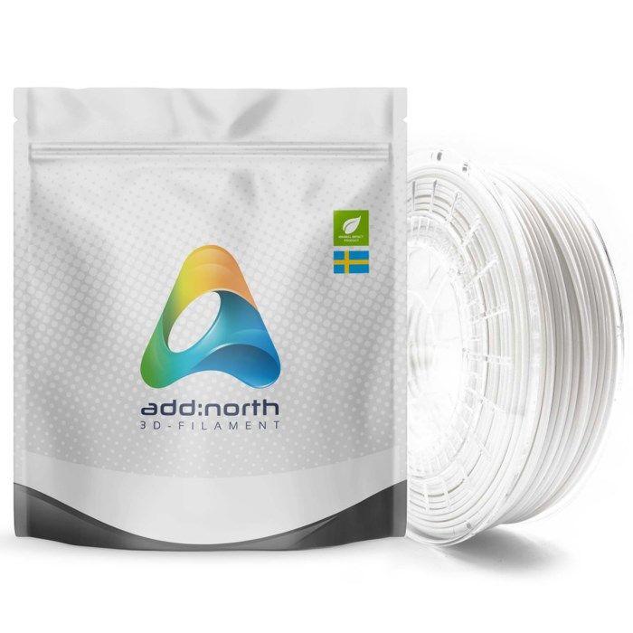 Addnorth E-PLA-filament för 3D-skrivare 1,75 mm Vit