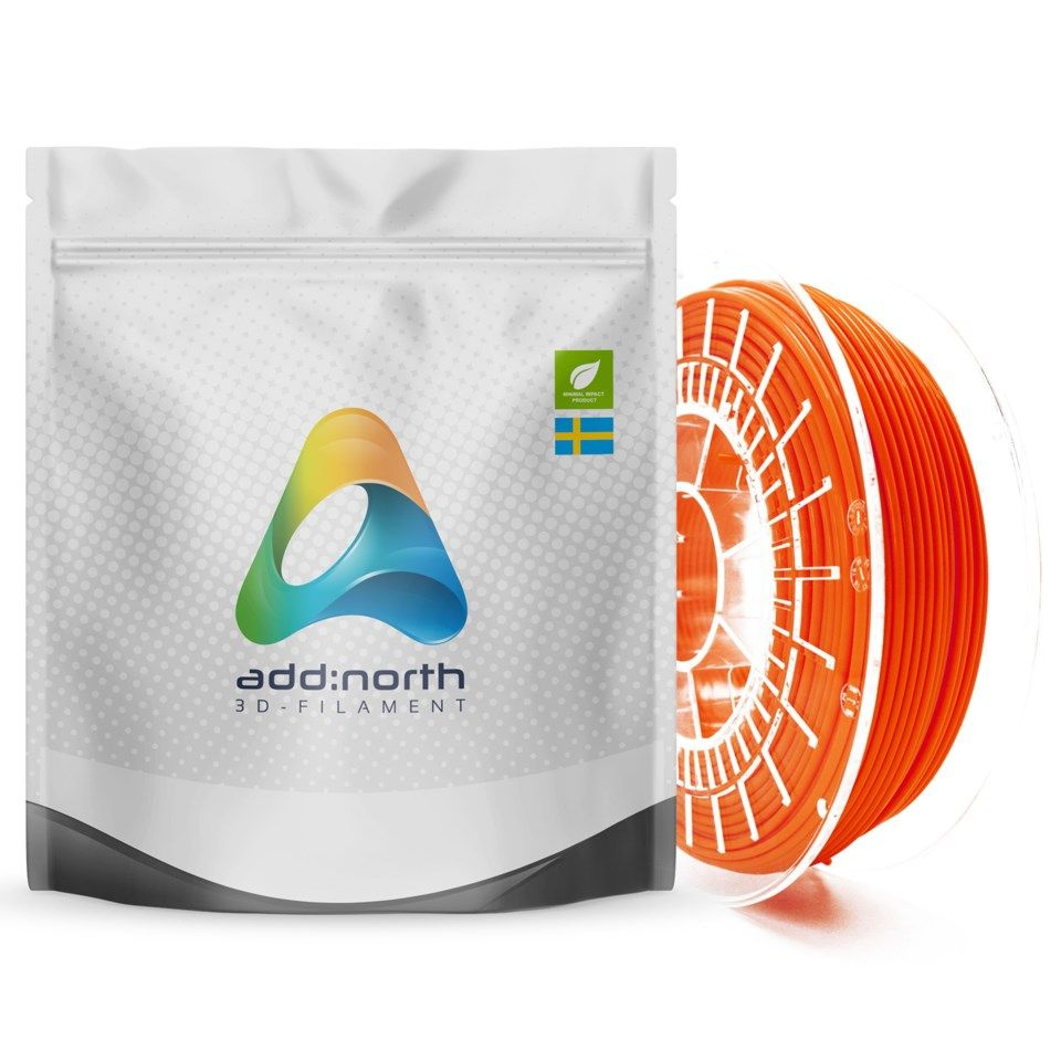 Addnorth E-PLA-filament för 3D-skrivare 1,75 mm Orange