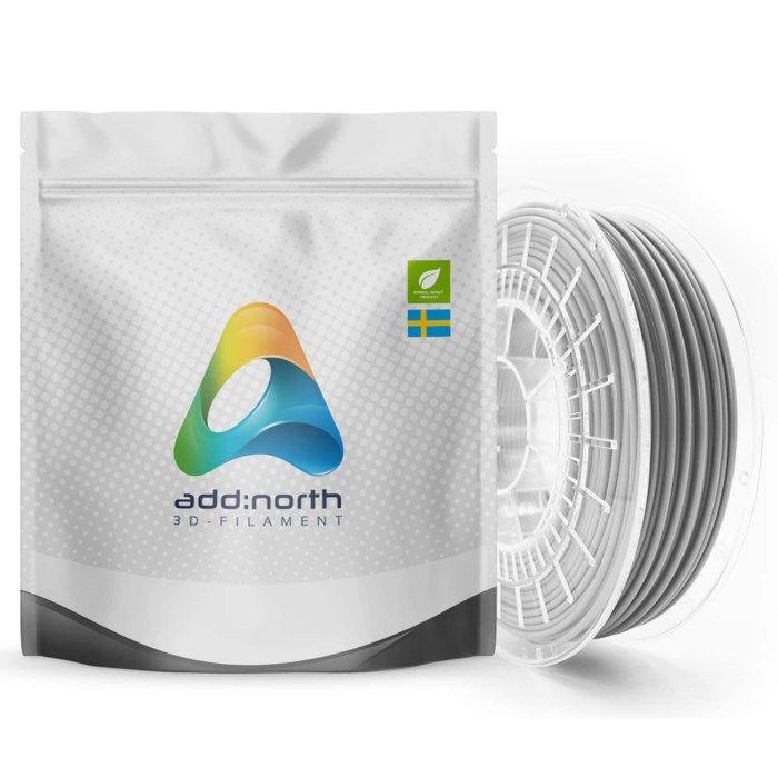 Addnorth E-PLA-filament för 3D-skrivare 1,75 mm Ljusgrå