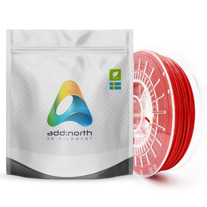 Addnorth E-PLA-filament för 3D-skrivare 1,75 mm Röd