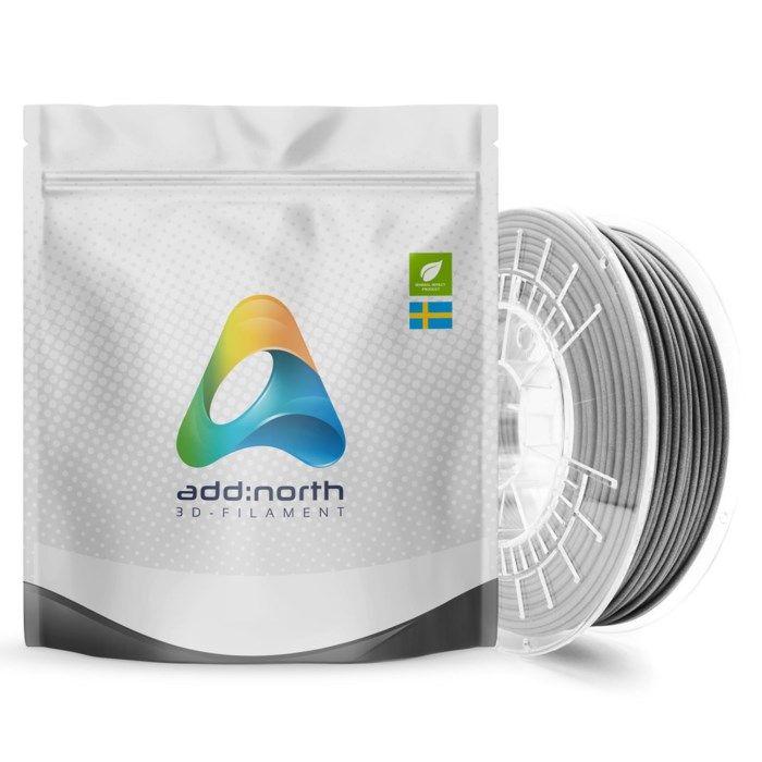 Addnorth Textura Flare filament för 3D-skrivare 1,75 mm Grå
