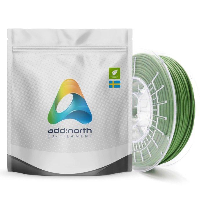 Addnorth Textura Flare filament för 3D-skrivare 1,75 mm Grön