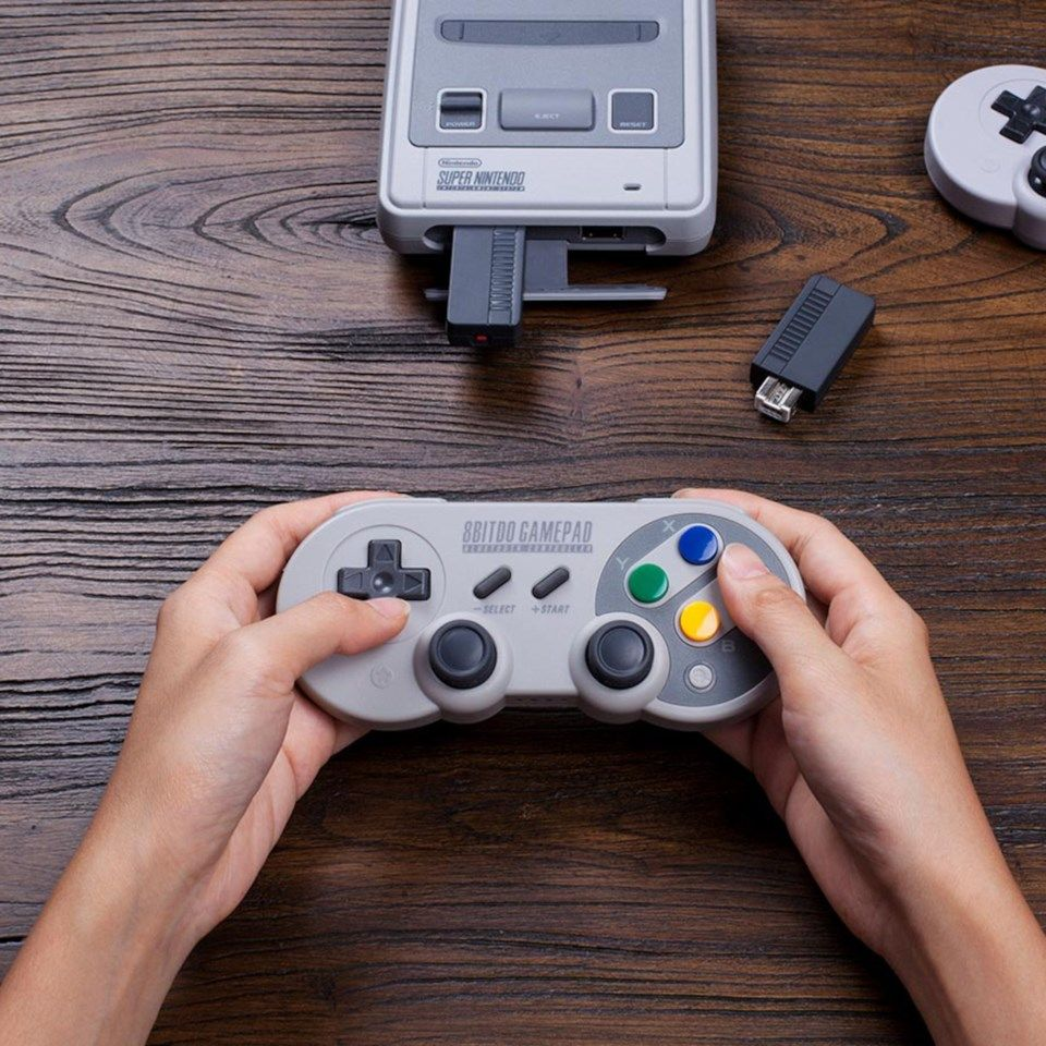 8Bitdo Bluetooth Retro Reciever för NES och SNES Classic Edition
